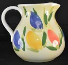 Antica Fornace Pitcher Hand Painted Floral Ceramic Italy COLORFUL!