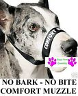 DOG GROOMING TRAINING No Bark No Bite Comfort Easy Fit Adjustable Muzzle LARGE