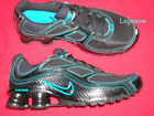 Nike Shox Turbo + 9 Running Shoes Black Blue Sneakers Mens 75 New Trainers Ipod