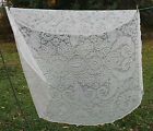 Round Cream Lace Tablecloth Linen Dining Table Cloth SUNFLOWER DAISY PAISLEY 86