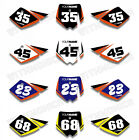 Custom Number Plate Backgrounds Graphics For KTM SX50 SX 50CC 2005 2006 2007 08