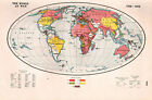 WWI MAP + ARTICLE & PICS ~ WOLRD AT WAR 1914-18 WAR DECLARED BY ALLIES & ENEMY
