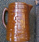 VINTAGE NELSON MCCOY SWASTIKA PITCHER Salt Glazed / Mint Cond. /Good Luck Symbol