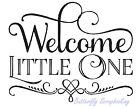 BABY Welcome Little One Wood Mounted Rubber Stamp HAMPTON ART Stamp PS0844 NEW