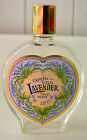 Vintage CRABTREE and EVELYN Glass LAVENDER TOILET WATER Decorative BOTTLE Empty