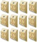 (12) Uninex PS23U-IV Ivory 6 Way / Outlet Electrical Plug Current Tap / Adapters