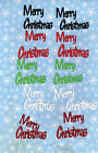 QuicKutz Silhouette Small Merry Christmas Die Cut Embellishmets Sizzix