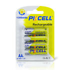 PKCELL 6pcs NiMh AA Batteries 600mAh 1.2V 2A Ni-Mh Rechargeable Battery Cell