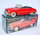 New Toy MF-321 China 1:18 Red BUICK 1950 Open CONVERTIBLE Tin Friction NMIB`80!