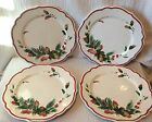 4 Fitz & Floyd Winter Holiday Dinner Plates 10