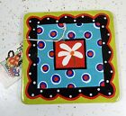Joyce Shelton Tea Party Collection TRIVET green, red, blue & black NEW