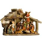 BRUBAKER Christmas Nativity Set Stable with 11 Resin Figurines