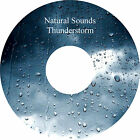 Natural Sounds Gentle Thunderstorm CD Relaxation Sleep Aid Stress Anxiety Relief