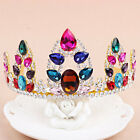Vintage Crown Tiara Shiny Colorful Crystal Wedding Bridal Headband Prom Headwear