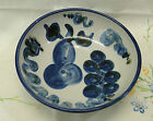 M. A. Hadley Pear and Grape Large Serving, Fruit or Salad Bowl 11