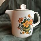 Boch Vintage Septfontaines Teapot and Bowl Yellow/Orange/Green