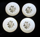 Royal Worcester Bone China Butter Pats / Trinket Dishes - Gray Roses - Set of 4