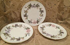 3 Royal Worcester June Garland Bread Plate 6