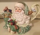 Fitz & Floyd Classics Gregorian Collection Teapot  Christmas Santa