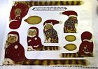 Christmas Cat/Kitten Trio Dolls - Craft Fabric Panel (Draft Stopper