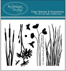 GROWING WILD Stamp Set Clear Unmounted Rubber Stamps TECHNIQUE TUESDAY New