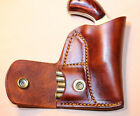 Pocket holster with ammo pouch for NAA 22 Mag 1 1/8 or 1 5/8 - Leather tan