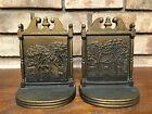 HUBBARD CAST IRON BOOKENDS LONGFELLOW'S HOME