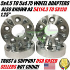 4 WHEEL SPACERS ADAPTERS 5X45 TO 5X475 125 INCH THICK 5X1143 TO 5X120 12X15