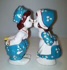 Ceramic Hand-Painted Kissing Dutch Boy and Girl Salt and Pepper Shaker Set 5