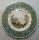 Antique 1870-86 Hand Painted Scenic Davenport Longport Plate Staffordshire Eng.