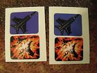 f14 f-14 tomcat williams pinball machine spinner decal decals ( 2 sets )  NEW