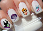 Disney Female Villains Nail Art Stickers Transfers Decals Set of 51