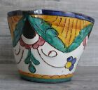 Vintage Italian Pottery Bowl or Vase Fluted Edges Italy Artist Signed Useful Art