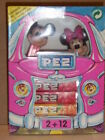 RARE PEZ CAR BOX 2+12 MICKEY AND MINNIE MOUSE MINT IN PINK BOX