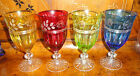 BEVELED WATER GOBLETS WITH LABELS
