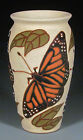 Common Ground Pottery, Monarch Butterfly vase, Eric Olson art pottery