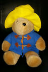 Eden Toys Paddington Bear stuffed plush wearing blue coat yellow hat 15
