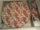 Porcelain Cake Plate and Server, Formalities by Baum Bros. - Poinsettia