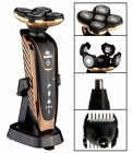 3In1 Rechargeable Shaver Washable Five Head IPX7 Rotary Razor Nose Hair Trimmer
