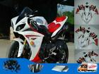 Fit for Yamaha YZF R1 2009-2011 New White Red Injection Mold Plastic Fairing e09