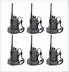 6 Pack Two Way Radio Long Range Handheld Walkie Talkie Security Police Distance
