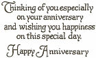 Happy Anniversary Saying Wood Mounted Rubber Stamp NORTHWOODS M2420 New