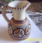 VTG~SIGNED~Sanguino Toledo Spain WATER PITCHER VASE POTTERY~ CREAMER SPANISH WAR