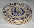 Wallace China Desert Ware Ye Olde Mill FIVE 11.1/4 Dinner Plates Platters Chops