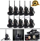 10 Pack Walkie Talkie Two Way Radio Long Range Headset Portable Security Police