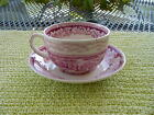 HOMER LAUGHLIN - CUP & SAUCER - VIEW OF NEW YORK -TRSFWARE - USA - MID-CENTURY