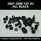 Complete Fairing Bolt Kit Black Body Screws for Yamaha 2007 2008 YZF R1
