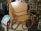 VINTAGE THONET STYLE CANE BENTWOOD ROCKING CHAIR * MADE IN POLAND