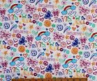 SNUGGLE FLANNEL  FAITH LOVE BELIEVE  on WHITE 100 Cotton Fabric NEW BTY