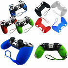Silicone Nonslip Grip Handle Case Skin Cover For Sony PS4 Controller Wrist Strap